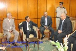 مع رئيس جامعة السادات 30