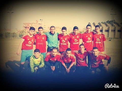 فريق النادى الرياضى بقويسنا مع مديره الفنى المتألق الكابتن خالد أبو غنيمة