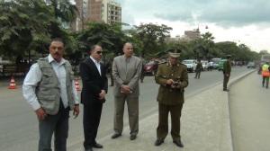 مدير الأمن يشرف على تنفيذ القرار