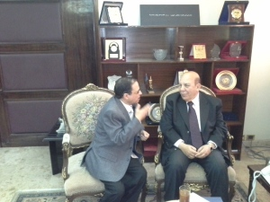 مصطفى الشهاوى فى حواره مع وزير التنمية المحلية