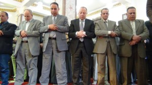 قيادات الداخلية في صلاة الجمعة