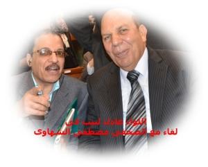 اللواء عادل لبيب و الصحفى مصطفى الشهاوى