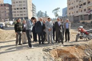 رئيس جامعة المنوفية يتفقد مبنى مجمع العيادات