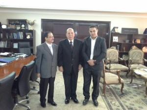 الشهاوى و أبو الحديد مع اللواء عادل لبيب