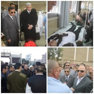 المحافظ ومدير الأمن ونائب رئيس جامعة المنوفية زاروا المصابين و الموقع