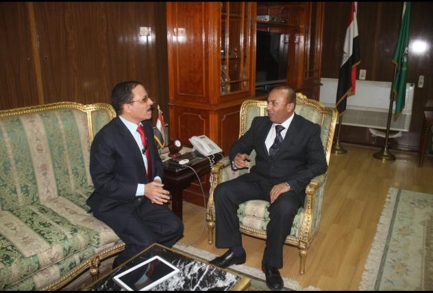 د . هشام عبد الباسط محافظ المنوفية في حواره مع مصـطفي الشهاوي